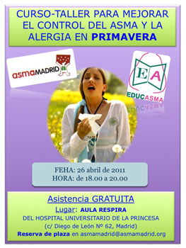 Curso sobre asma y alergia primaveral