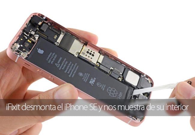 iFixit muestra el interior del iPhone SE
