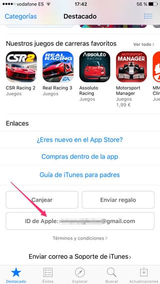 Apple ID en la App Store