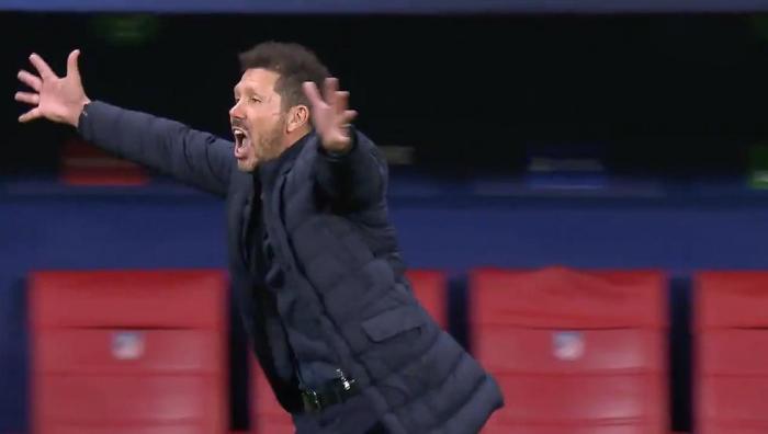 VIDEO Movistar+ : La locura del Cholo tras el gol de Joao