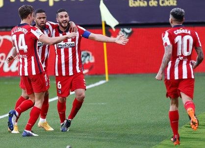 Atleti: gol de Koke frente al Cádiz