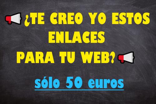 comprar enlaces 50 euros