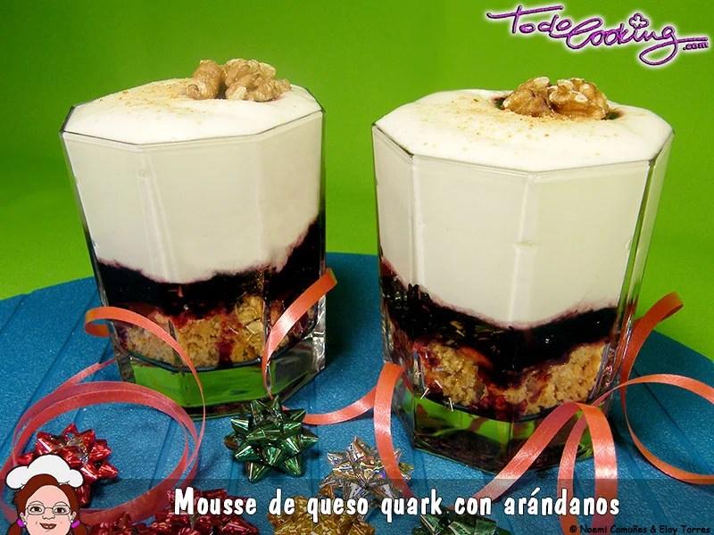 Mousse Queso Quark Arandanos