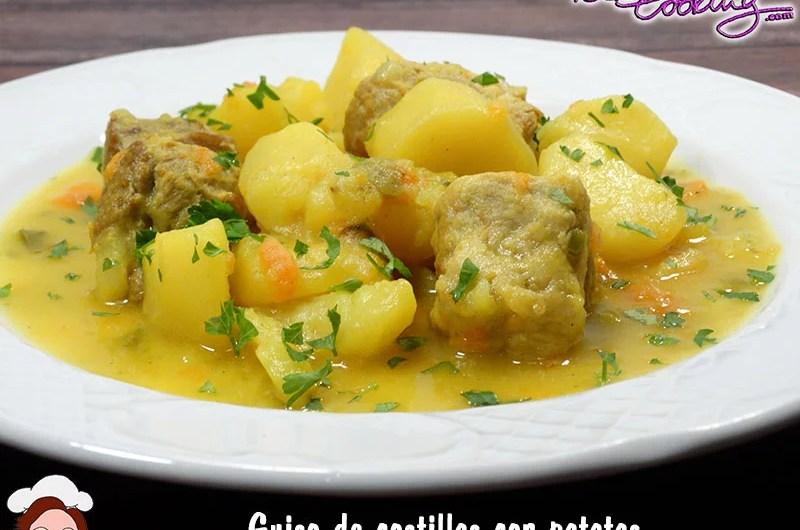 guiso de costillas de cerdo con patatas