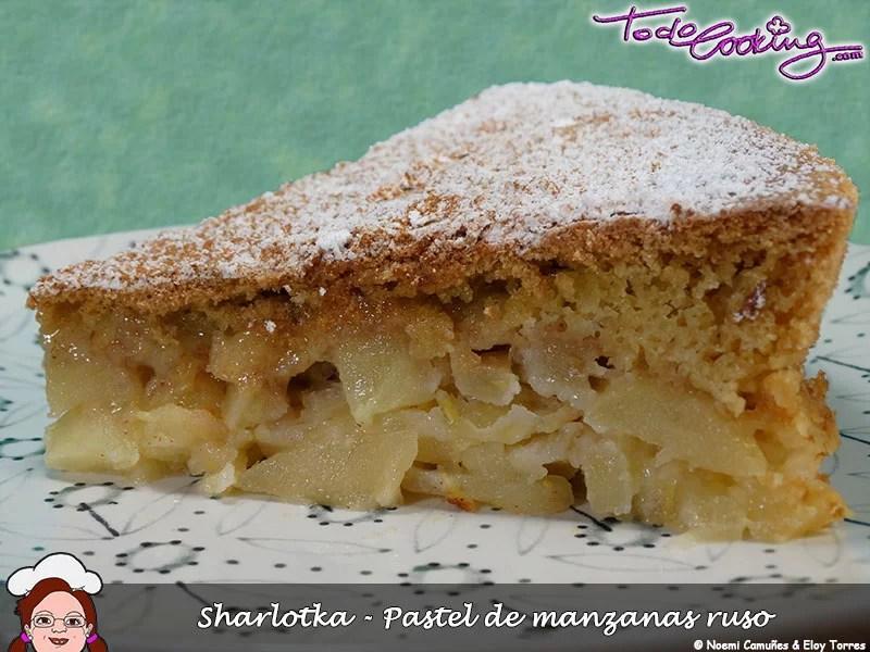 Sharlotka - pastel de manzanas