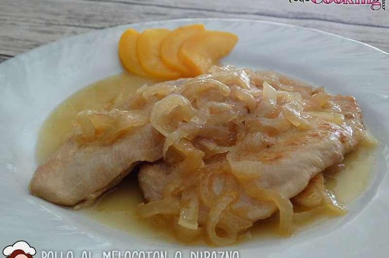 Pollo-al-melocoton-durazno