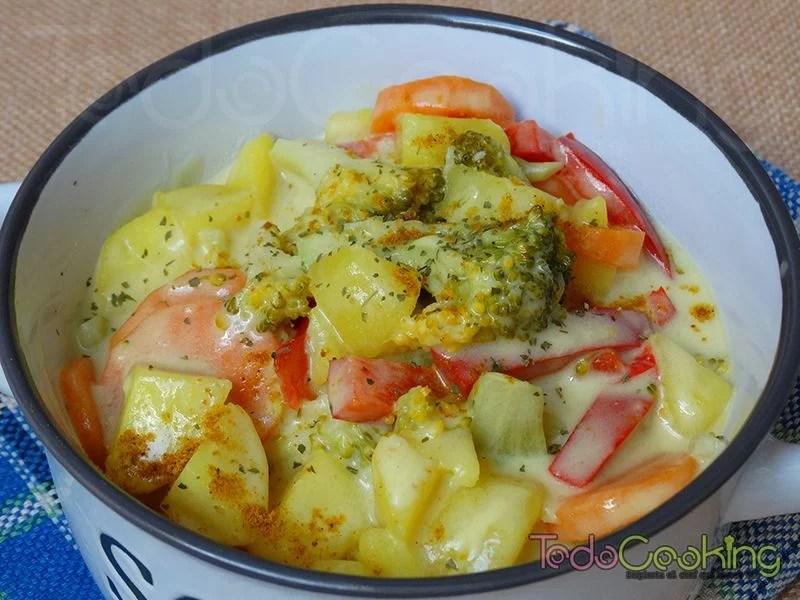 Curry de patata y vegetales