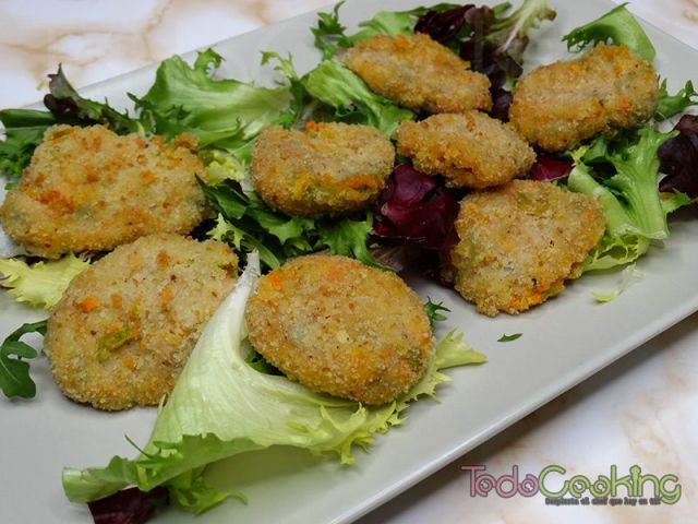Nuggets de verduras con queso