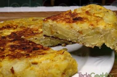 Tortilla de bacalao y patatas