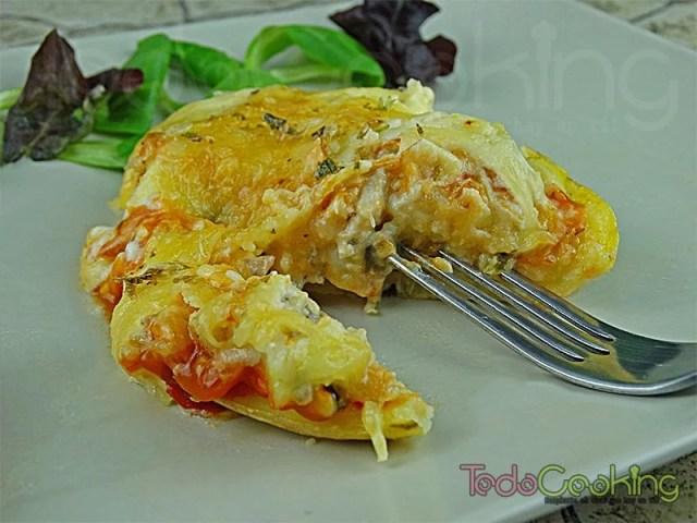 patatas gratinadas con pollo