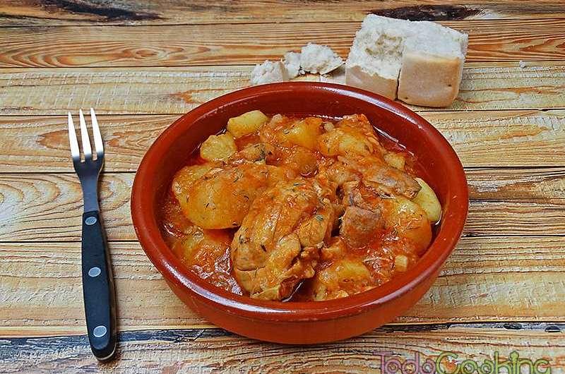 Guiso de pollo con patatas 04