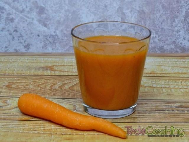 Zumo de zanahoria y calabaza
