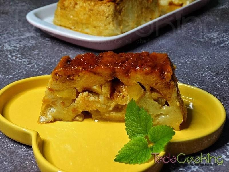 Pudin de pan con manzana 02