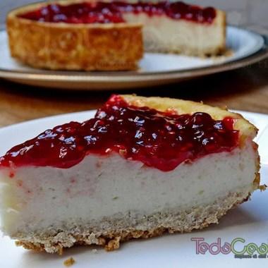 Cheesecake vegana con frambuesas 02