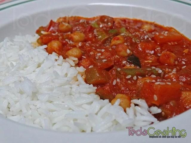 Curry Thai de garbanzos con calabaza 03