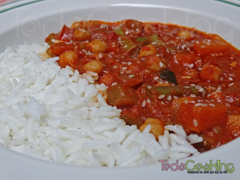 Curry Thai de garbanzos con calabaza 03
