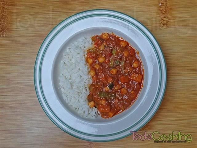 Curry Thai de garbanzos con calabaza 04