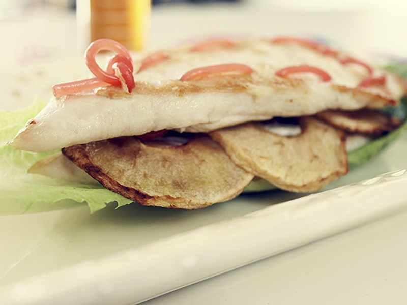 sandwich pollo manzana y regaliz