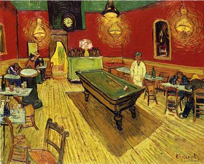 Cuadro del maestro holandés, Café de noche.