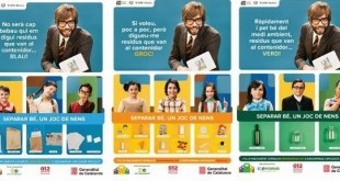 """""""Separar bien los residuos es un juego de niños"""", una campaña para la gestión de residuos en Catalunya"""