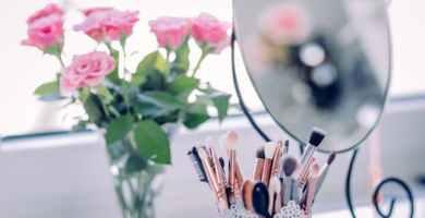 espejo de maquillaje
