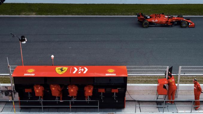Charles Leclerc Ferrari SF90 2019 Barcelona