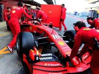 Charles Leclerc, al volante del Ferrari SF90