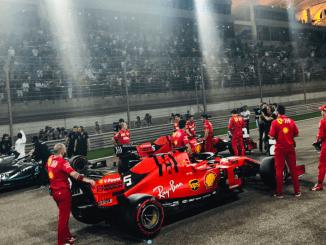 Ferrari Bahrein pole 2019