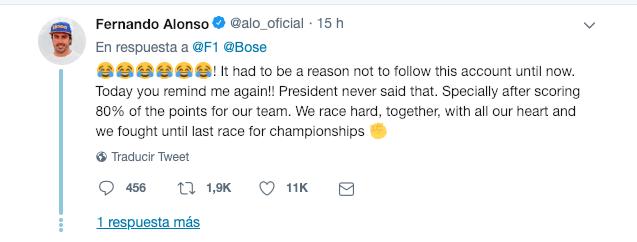 Alonso Twitter