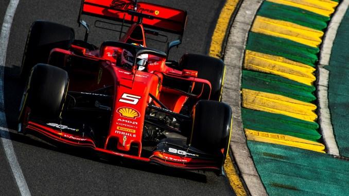 Sebastian Vettel, en Albert Park