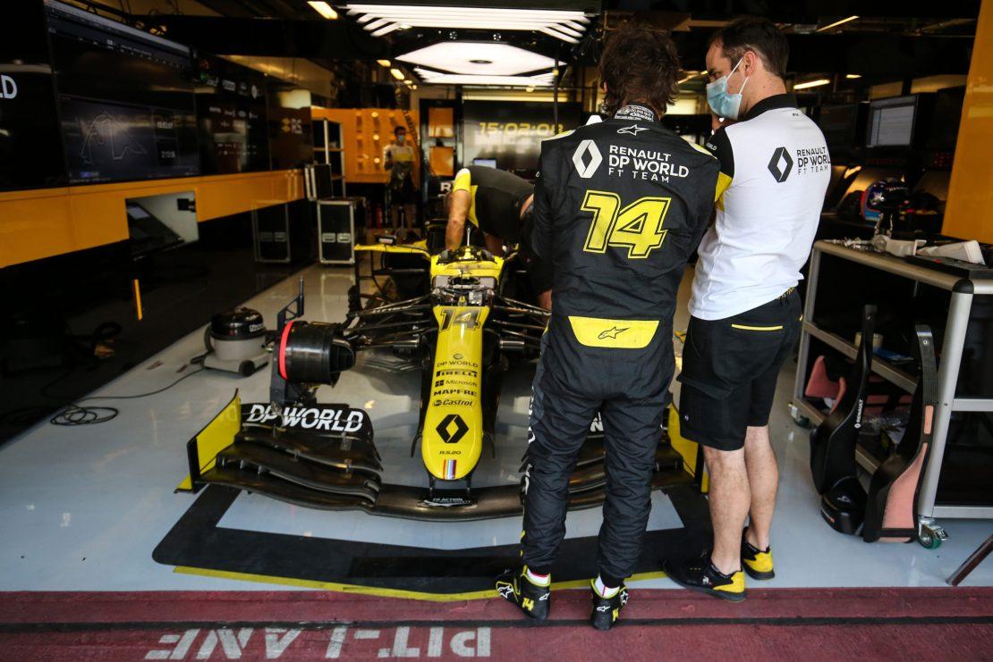 Fernando Alonso, test de Abu Dhabi 2020, jovenes pilotos, Renault RS20