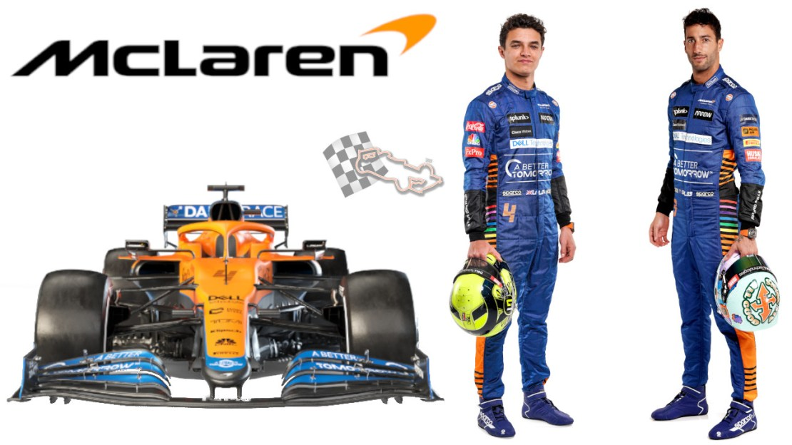 McLaren 2021 - MCL35M - Lando Norris - Daniel Ricciardo