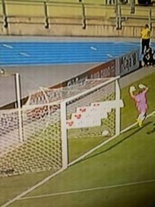 Momento del gol no cobrado a O'Higgins. Foto: @RadioRancagua
