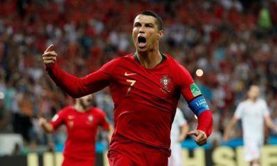 Cristiano Ronaldo anotó tres goles en el empate ante España.
