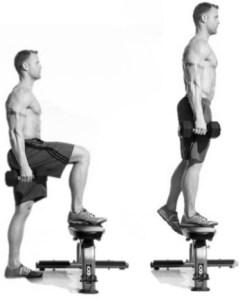 Subir step - Ejercicio para glúteos y piernas