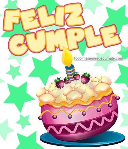 imagenes de feliz cumple con torta