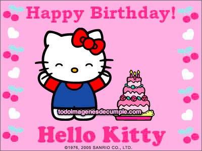 imagenes de cumpleaños con hello kitty