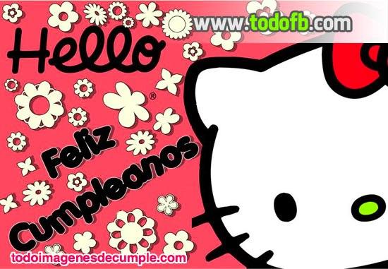 imágenes de cumpelaños con hello kitty