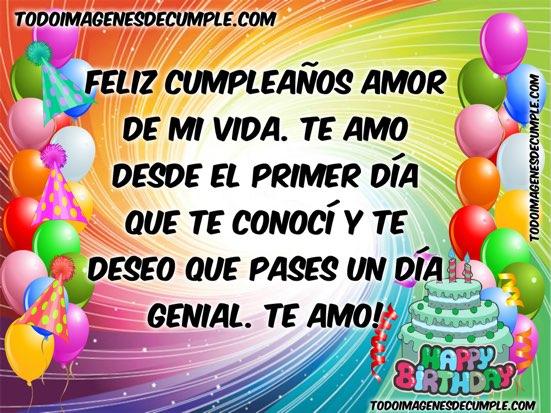 feliz cumpleaños amor de mi vida