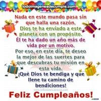 Imagen de Feliz cumpleaños con frase cristiana