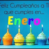 10 Diseños de imágenes de cumpleaños mes de ENERO