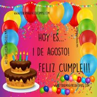 Imágenes de cumpleaños por día del mes de Agosto