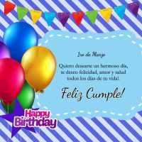 Imágenes con el día de cumpleaños (mes de Marzo)