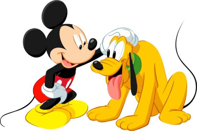 Pluto y Mickey