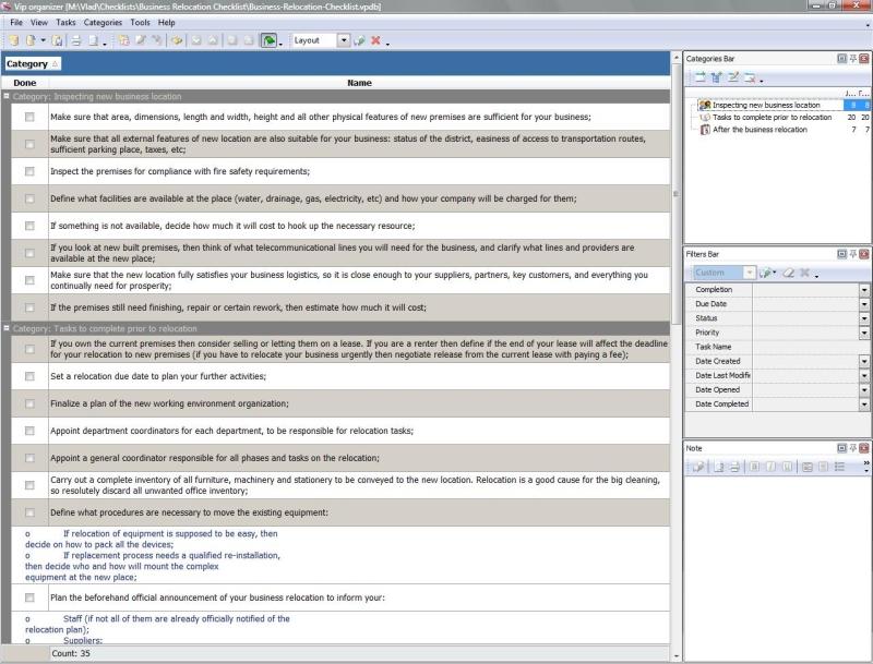 business relocation checklist to do list organizer checklist pim – Office Inventory List