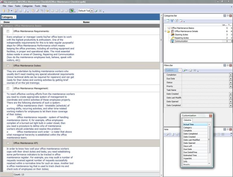 office maintenance checklist zip 4 kb