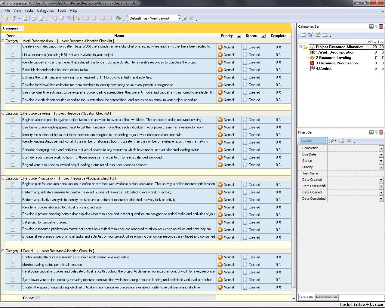 Program Management Resource Planning Template