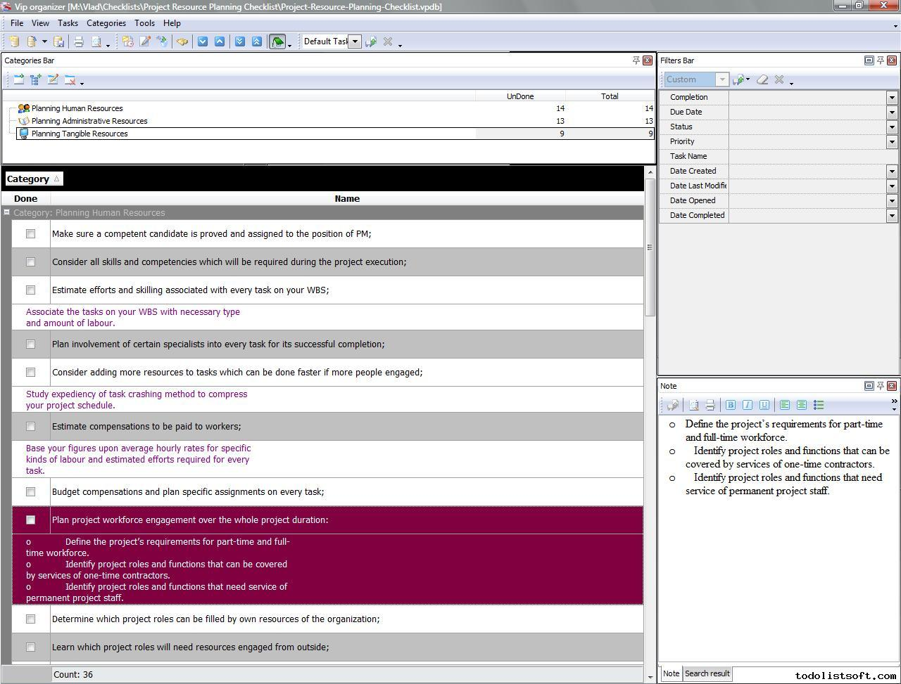 project resource planning checklist to do list organizer project – Resource Planning Template
