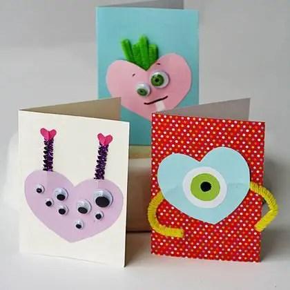 como hacer tarjetas de san valentin para niños