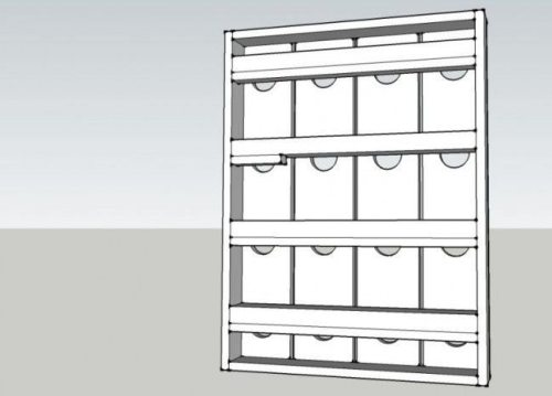 Como hacer un porta vinos de pared 4